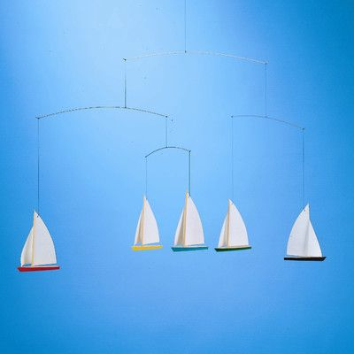 Flensted Mobiles Dinghy Regatta Mobile with Five Ships   AllModern