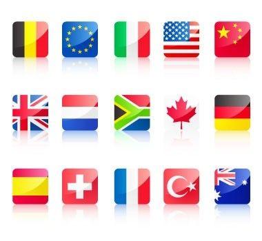 drapeau icônes vectorielles