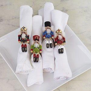 Nutcracker Napkin Rings, Set of 4