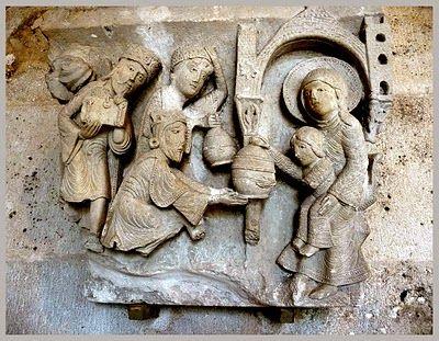 Gislebertus, Virgen sedes sapientiae, Catedral de Autun. Escultura románica francesa (Borgoña).