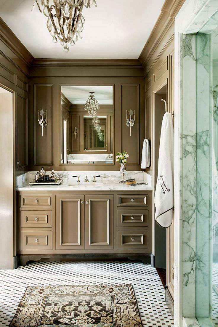 Barbara westbrook39s gracious homes countertops cabinets for Classic bathroom design