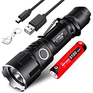 Klarus XT11GT Is Klarus XT11S Upgraded Version Cree XHP35 HD E4 2000 Lumens USB Rechargeable LED Torch Tactical Flashlight With a NiteElf Keychain