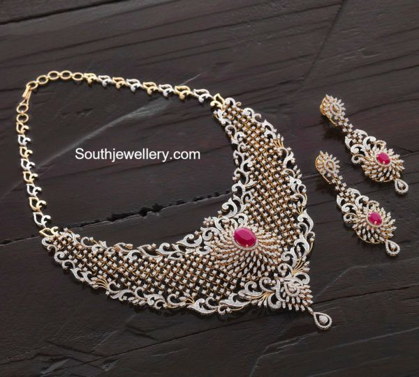 Diamond Ruby Necklace Set photo