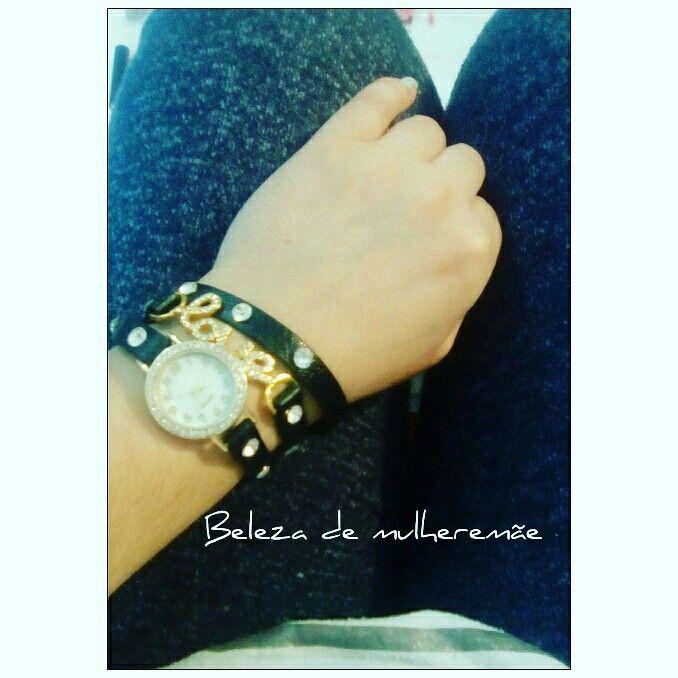 #watch #ootdwatch #blackwatch #relogio #love #acessórios #fashion