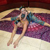 awesome Coco Austin and Baby Chanel Do Some Yoga Stretches in Matching Outfits Check more at https://10ztalk.com/2016/12/31/coco-austin-and-baby-chanel-do-some-yoga-stretches-in-matching-outfits/