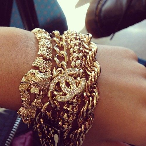 Golden bling stacked ♥