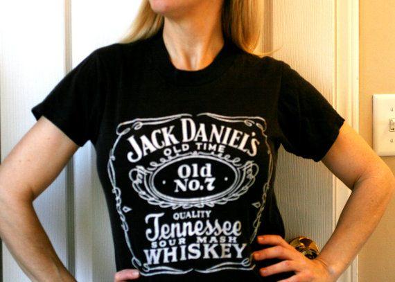 Vintage 80's Jack Daniels Tshirt Vintage Black Jack by AbateArts