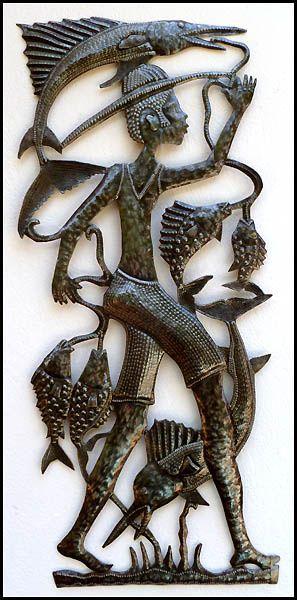 Metal Fish Wall Decor 24 best haitian metal fish & sealife wall hangings images on