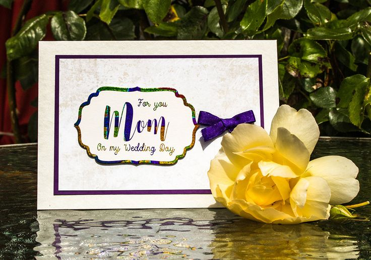 Real Foil Bride to Mum Card, Bride to Mom Card, Mum Wedding Card, Mom Wedding Card, Real Foil Wedding Card, Mom Gift, Mum Gift, Mom Present by SBsPrintables on Etsy