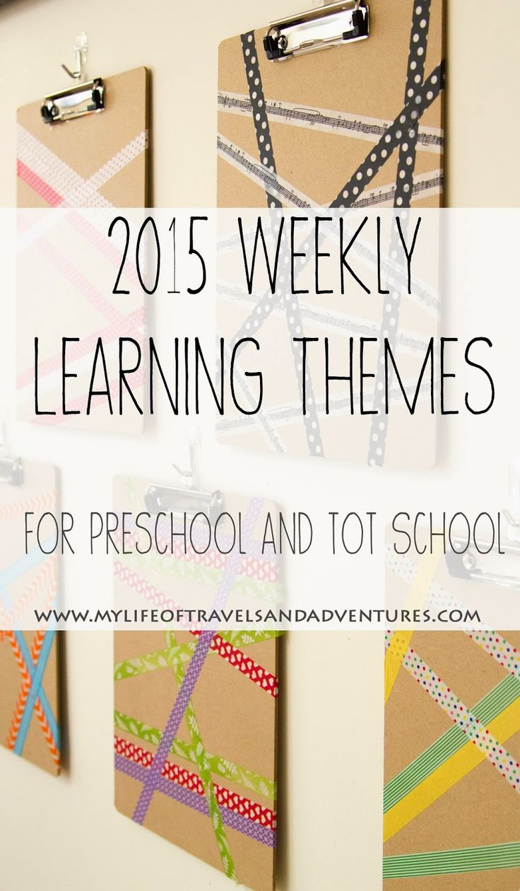 2015 Weekly Learning Themes For Preschool And Tot School   #Preschool #TotSchool #HomeSchool