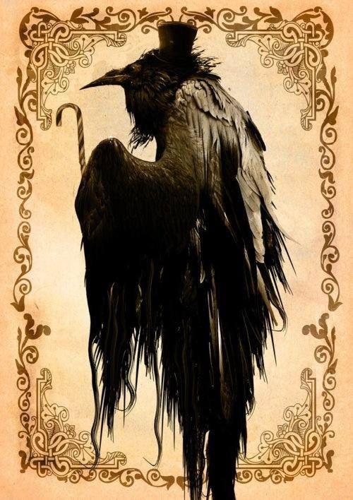 raven crow half man - photo #30