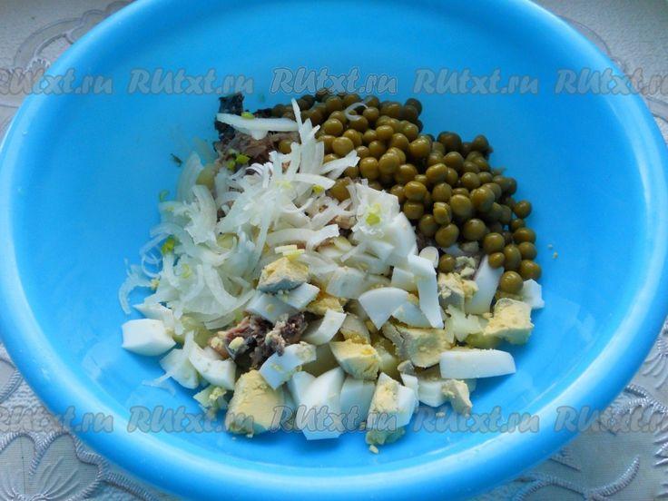 Салат из рыбных консервов низкокалорийный