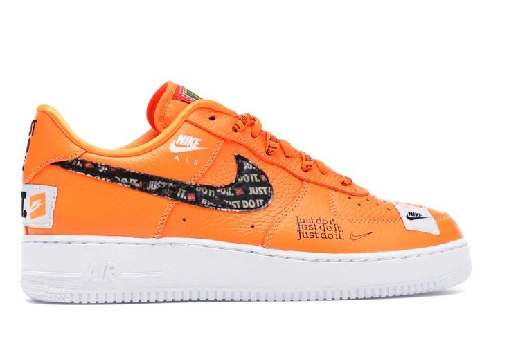 Nike Air Force 1 Low Just Do It Pack Total Orange Orange Shoes