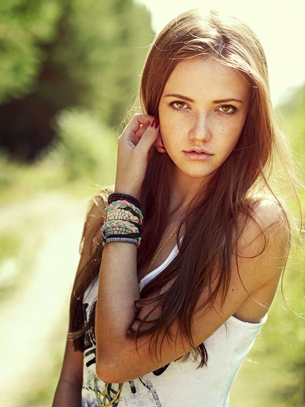 Teenage Girl With Long Blond Hair And Blue Eyes Troutdale: Enviromental Portriat Of A Teenager