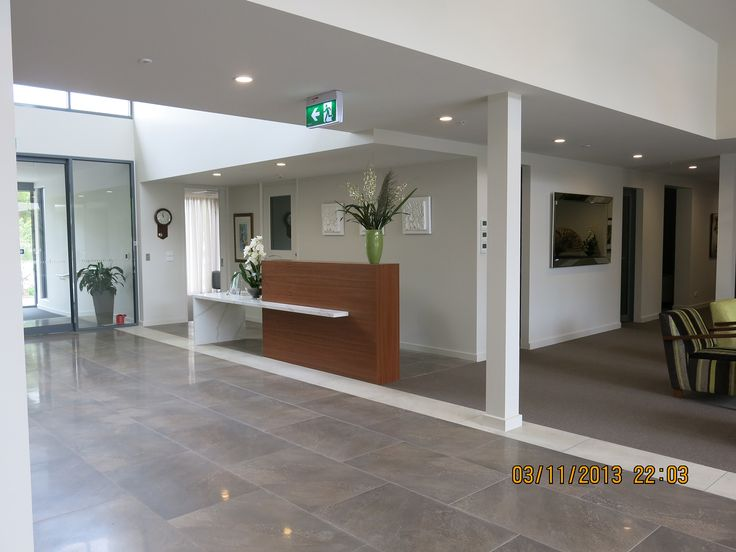 commercial reception wall art