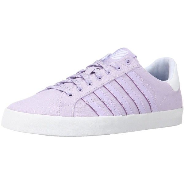 K-Swiss Women's Belmont SO T Fashion Sneaker ($17) ❤ liked on Polyvore featuring shoes, sneakers, k swiss footwear, k swiss sneakers, k swiss shoes and k-swiss trainers