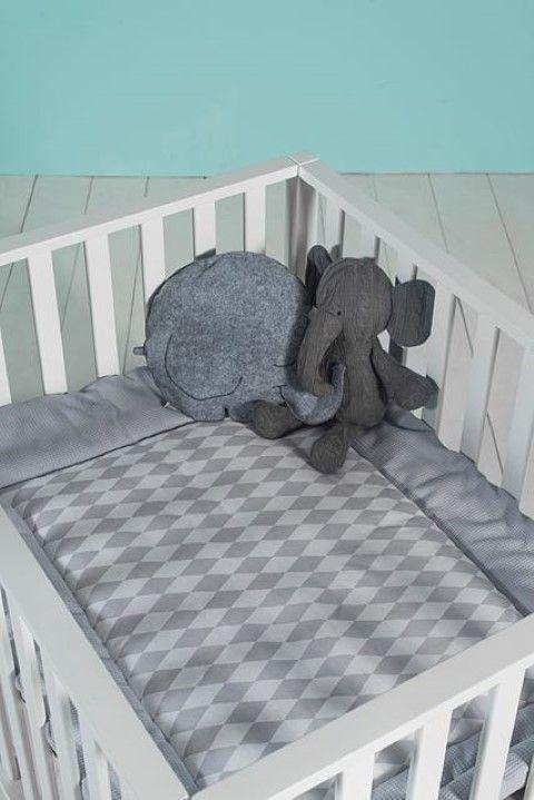 Jollein boxkleed *Wafel vintage* - BellyBloz - Baby artikelen & accessoires