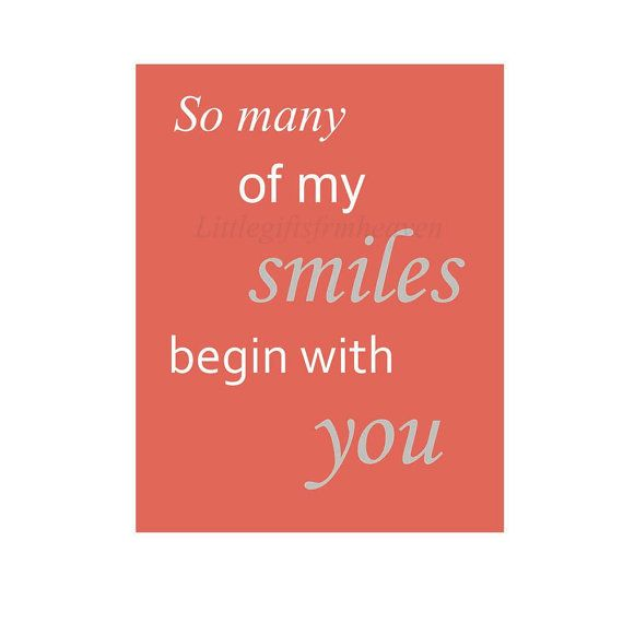 So many of my smiles quote.. digital file, print, or canvas