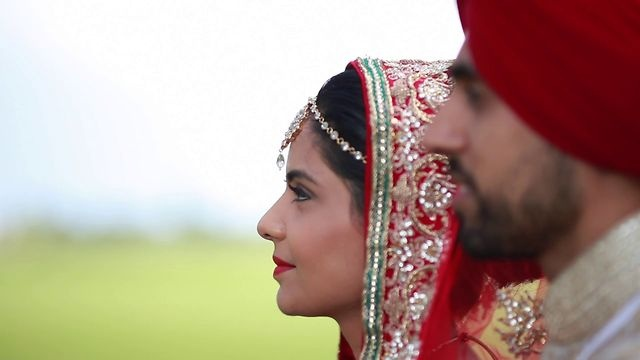 A beautiful wedding Indian Sikh wedding based in the UK. www.ovoma.com #Indian #sikh #wedding #highlights