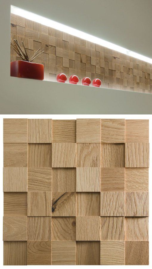 Modular wooden 3D Wall Cladding for interior MOSAICI D'ASOLO 3D by CP Parquet