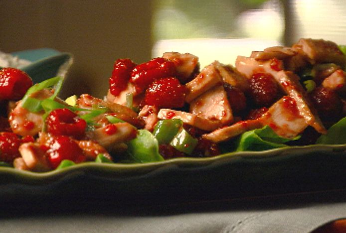 Raspberry-Chicken Salad Recipe : Robin Miller : Food Network - FoodNetwork.com