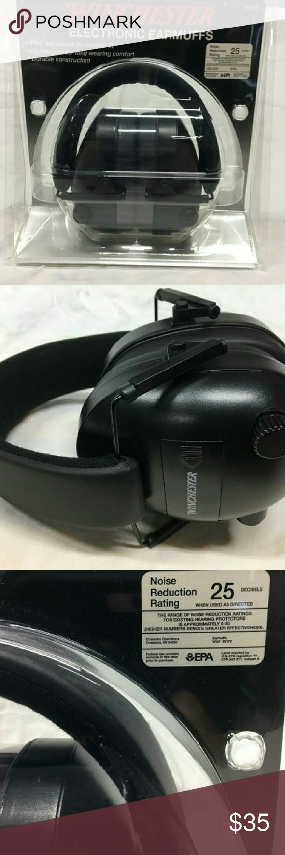 New Winchester Electronic Ear Muffs New in package Winchester Electronic Ear Muffs. Great for shooting range and can communicate with others. Other