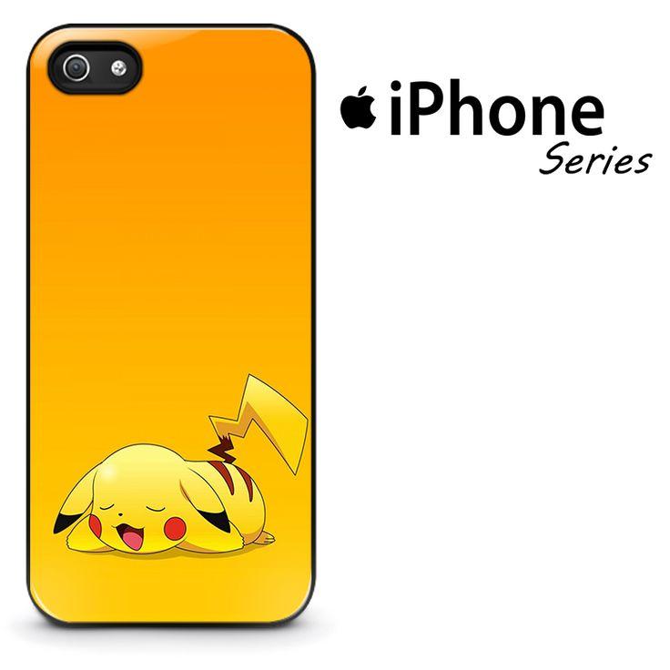 Pokemon Pikachu Sleep Phone Case | Apple iPhone 4/4s 5/5s 5c 6/6s 6/6s Plus Samsung Galaxy S4 S5 S6 S6 Edge S7 S7 Edge Samsung Galaxy Note 3 4 5 Hard Case  #AppleiPhoneCase #SamsungGalaxyCase #SamsungGalaxyNoteCase #PokemonPhoneCase #Yuicase.com