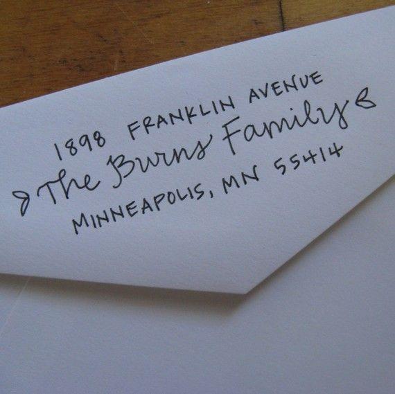 Ursula Address Stamp (Red Rubber on Wood Block). $44.00, via Etsy.