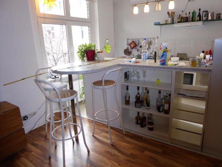Ich verkaufe eine Bar / Theke für die Küche oder den Keller. Die Theke besteht im Wesentlichen...,Theke / Bar / für Küche, inkl Hocker in Berlin - Wedding