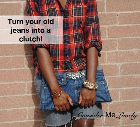 Old jeans to new to you clutch!