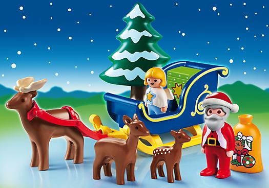 Playmobil 1.2.3. Santa Claus with Reindeer Sleigh, there's also a great nativity scene for Charlie for Christmas.