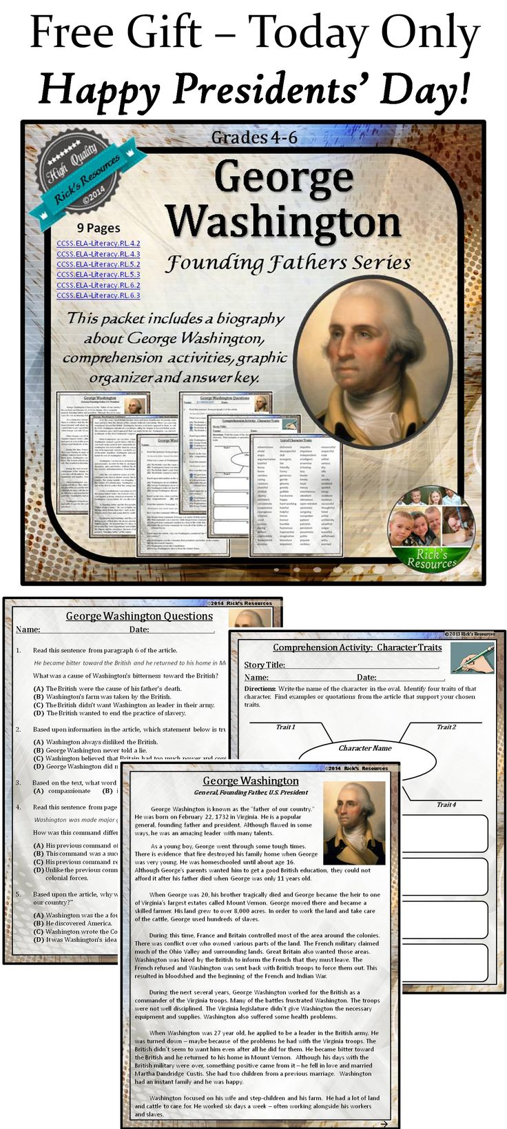 ideas about george washington biography george washington reading comprehension