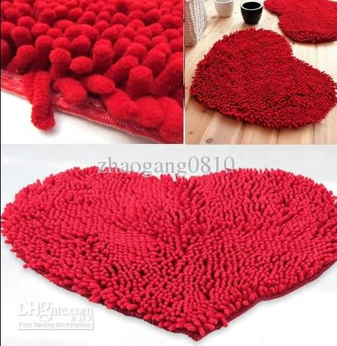 Fluffy Bedroom Rug Carpet Floor Bath Mat Love Heart Doormat 43x59cm Chenille Pad Commercial Carpet Installed Price Braided Rugs From Zhaogang0810, $30.54  Dhgate.Com