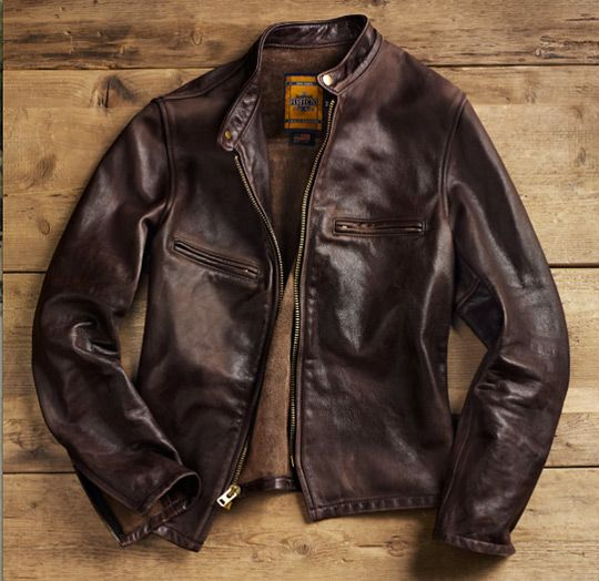 New from the Schott NYC lines comes this special make-up vintaged motorcycle jacket for Restoration Hardware. Coming in at $650, the cafe racer comes in black and brown and is produced at Schott's factory in Elizabeth, NJ. Features the…