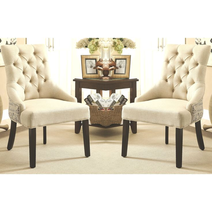 script design button tufted dining chairs with nail head trim set of 2