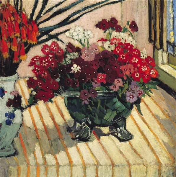 Margaret Preston (Australian, 1875–1963) - Bunch of Flowers, 1923 - Oil on canvas