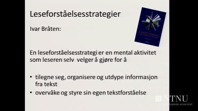07: Undervisningsstrategier som fremmer leseforståelse