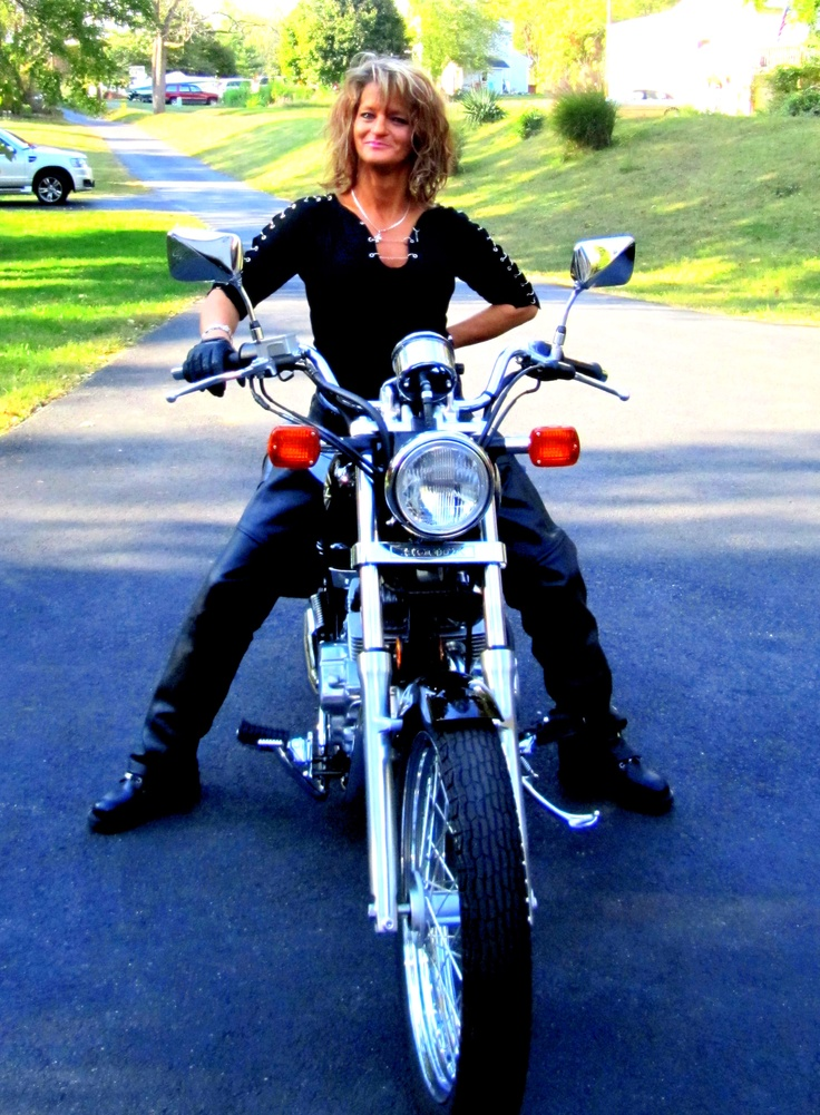Riding my motorcycle