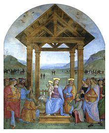 Perugino - Adorazione dei pastori di Trevi