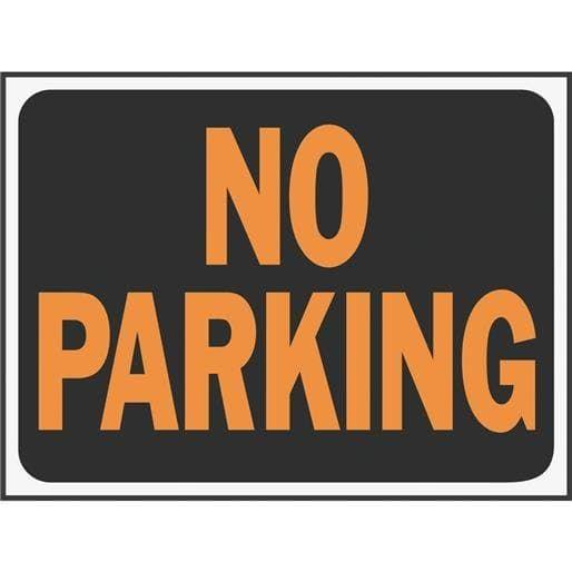 Hyko Prod. 9X12 No Parking Sign 3012 Unit: Each Contains 10 per case, Black
