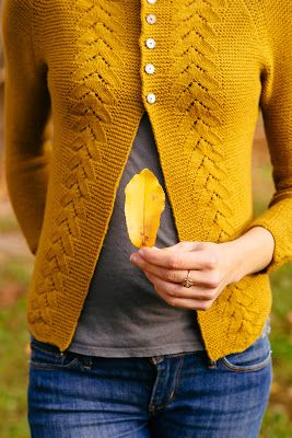 Benedetta in Finch/Honey by Quince & Co. with modified 3/4 sleeves, Swatch Diaries