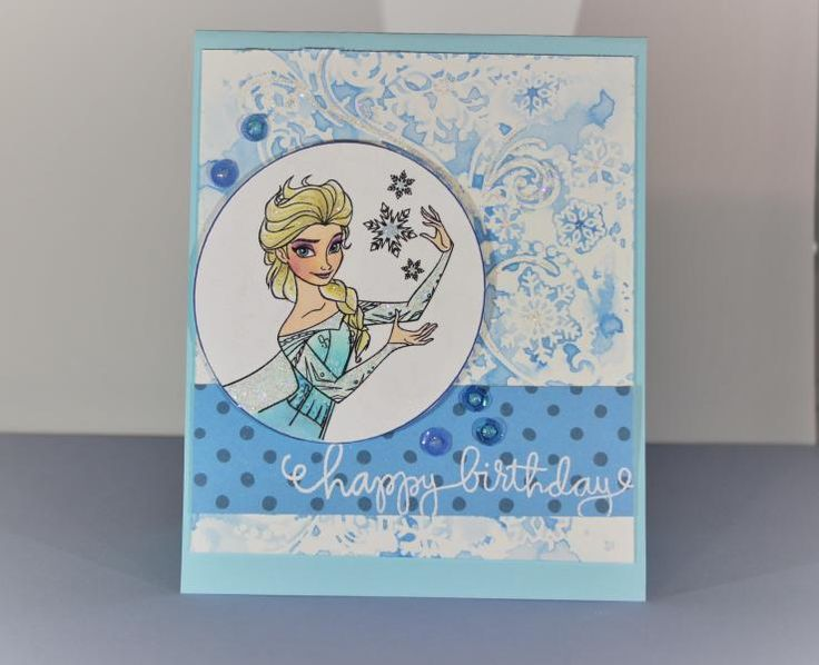 Frozen Card by amydoodle0528 - Cards and Paper Crafts at Splitcoaststampers