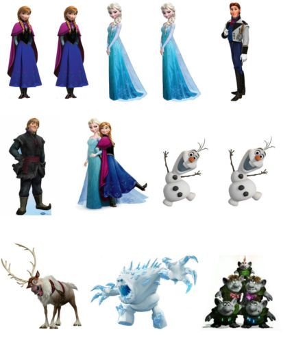 Premium Edible Wafer Paper Stand-up Disney Frozen Cake ...