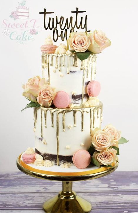 Two Tiered 21st Birthday Cake A Cake A Day In 2019