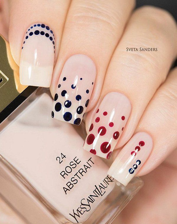 30+ Adorable Polka Dots Nail Designs