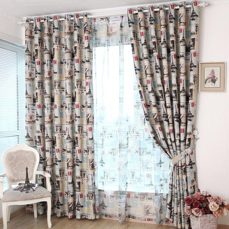 Средиземноморский стиль ткань современные шторы для гостиной спальня детская комната детский rooom cortinas пункт сала де эстар wp148 купить на AliExpress