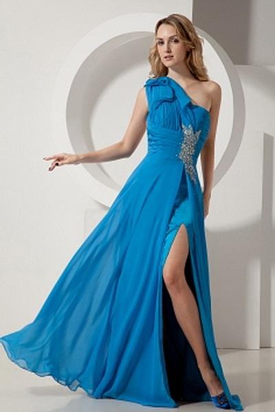Weekly Special Product: Ein-Schulter Blau Chiffon Berühmtheit Kleider ma1989 - Order Link: http://www.modeabendkleider.de/ein-schulter-blau-chiffon-beruhmtheit-kleider-ma1989.html - Farbe: Blue; Silhouette: Mantel / Spalte; Ausschnitt: Eine Schulter; Verz