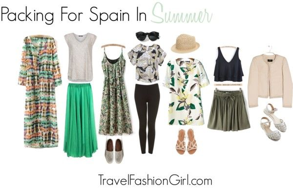 What to Pack for Spain Vacations - A Summer Guide: Cardign Dress / Linen T-Shirt / Pleated Chiffon Skirt / Floral Pleated Dress / Loose Dipped Hem Blouse / Ankle Leggings / Leaves Print Dress / Cascading Ruffle Vest / Drawstring Pleated Skirt / Beaded Textured Jacket / Cute Flats / Cafe Circuit Sandal / Canvas Slip-On / Round Sunglasses / Fedora Straw Hat