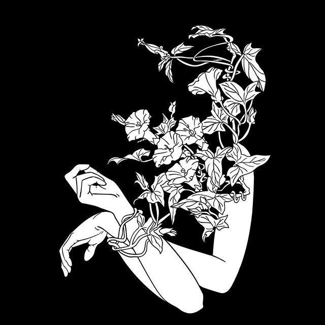 Soft Captivity Black And White Illustration Tatto Drawing Graphic
