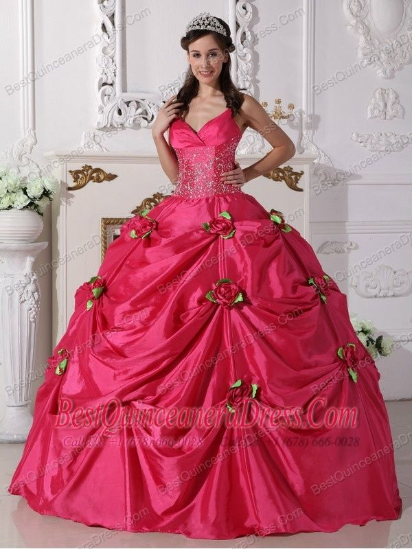 Home :: Perfect Quinceanera Dresses :: Hot Pink Ball Gown Spaghetti ...